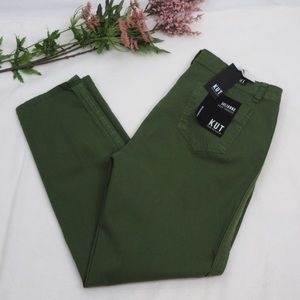 Green crop trouser by Kut from the Kloth NWT